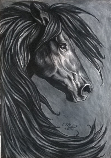 Friesian Dream - Original - $200